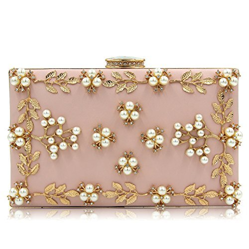Milisente Women Evening Bag Pearls Clutch Purse Bags Evening Handbag