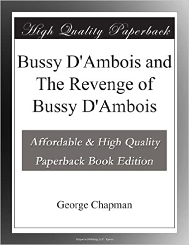 Book Bussy D'Ambois and The Revenge of Bussy D'Ambois
