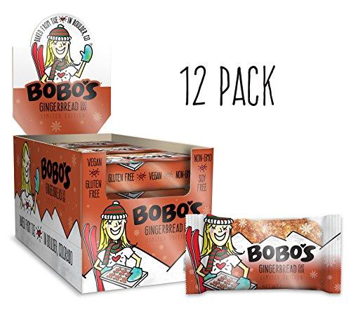 Bobo's Gluten Free Oat Bar, Gingerbread, 3 oz., Pack of 12