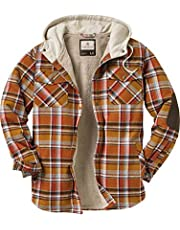 Legendary Whitetails Mens Camp Night Berber Lined Hooded Flannel