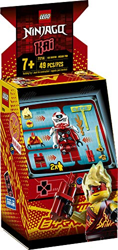 LEGO NINJAGO Kai Avatar - Arcade Pod 71714 Mini Arcade Machine Building Kit, New 2020 (49 Pieces)