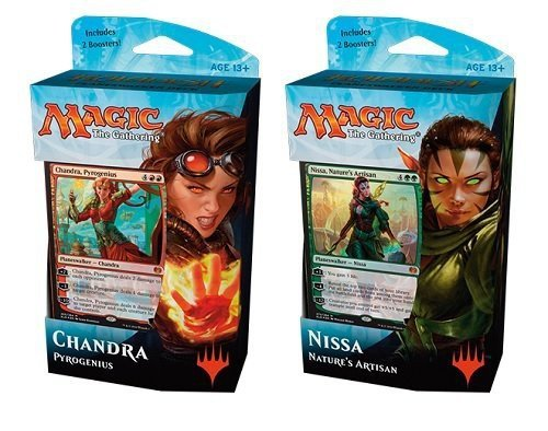 Magic Kaladesh Chandra and Nissa Planeswalker 60-card Decks with 4 Booster Packs ()
