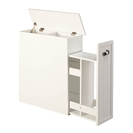 amazon com oakridge slim bathroom storage cabinet with slide out rh amazon com