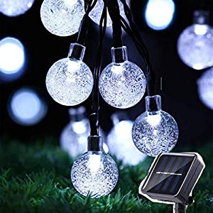 Amanda Y Solar String Light Outdoor 50 LED 22.9ft 8 Modes LED Solar Globe String Lights Decorative Waterproof Solar…