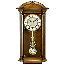 Bulova C4331 Hartwick Chiming Clock, Walnut Finish