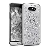 kwmobile Crystal Case for LG G5 / G5 SE with Design flakes - transparent Protection Case Cover clear in silver transparent