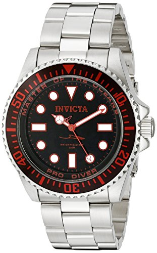 Invicta Men's 20121 Pro Diver Analog Display Swiss Quartz Silver Watch