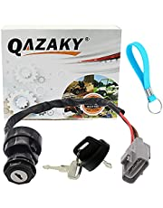 QAZAKY Ignition Key Switch Compatible with Yamaha Grizzly Big Bear Kodiak YFM350 YFM400 YFM550 YFM660 YFM700 YFM 350 400 550 660 700 28P-82510-00-00 3B4-82510-00-00 5KM-82510-00-00