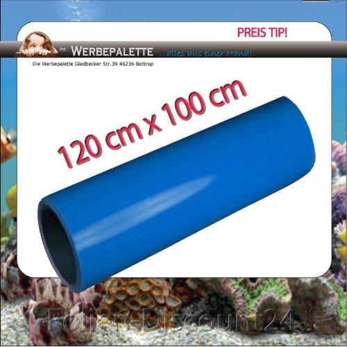 (EUR 5,75 / Quadratmeter) Aquarium Terrarium Rückwandfolie Folie SEE BLUE 120 cm x 100 cm TOP ! Preistip