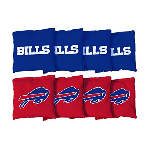 Victory Tailgate Buffalo Bills NFL Cornhole Game Bag Set (8 Bags Included, Corn-Filled) -