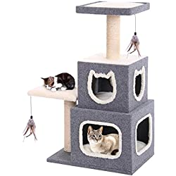 Penn Plax Two Story Cat Condo with Scratching Post and Perches