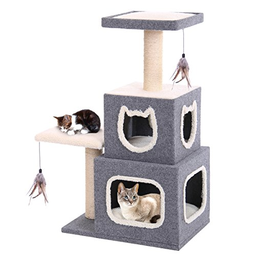 Penn Plax Two Story Cat Condo with Scratching Post and Perches (Two Story Cat Condo)