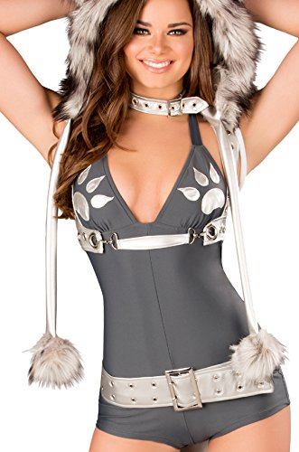 J. Valentine Women's Wolf Romper, Grey, Small (Yandy.com Costume)