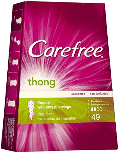Carefree Thong Pantiliners Unscented 49 product image
