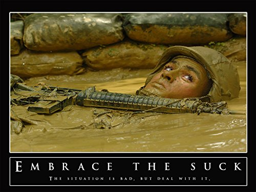 Embrace the Suck Poster Military Motivation Poster Army Post