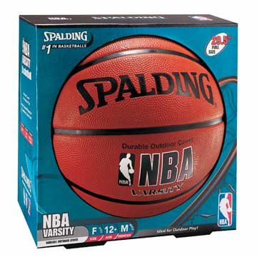 Spalding NBA Varsity Rubber Outdoor Basketball - Intermediate Size 6 (28.5