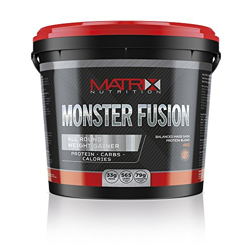Matrix Nutrition Monster Fusion 4KG is an all-round weight gainer designed to support the intake of all the main nutrients required for packing on muscle mass. (Strawberry) by Matrix Nutrition by Matrix Nutrition