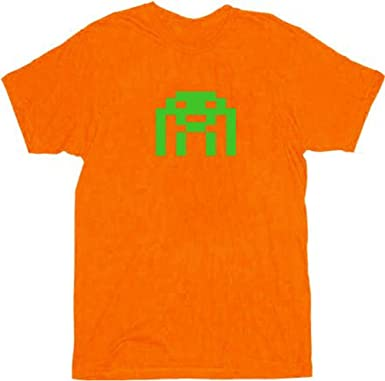 Amazon Com The Big Bang Theory Space Invader Adult Orange T Shirt