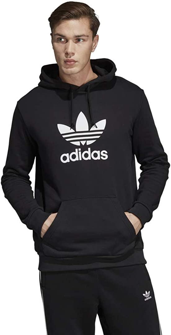 adidas Originals mens Trefoil Hoodie Black XX-Large: Clothing