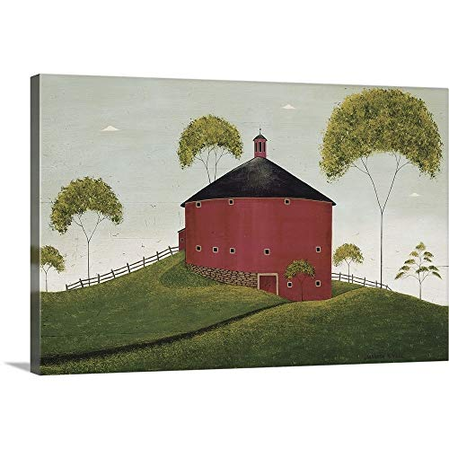 GREATBIGCANVAS Gallery-Wrapped Canvas Entitled Shelburne Barn by Warren Kimble 30