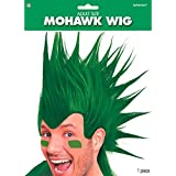 Amscan Party Ready Team Spirit Mohawk Wig (1 Piece), Green, 11 x 8""