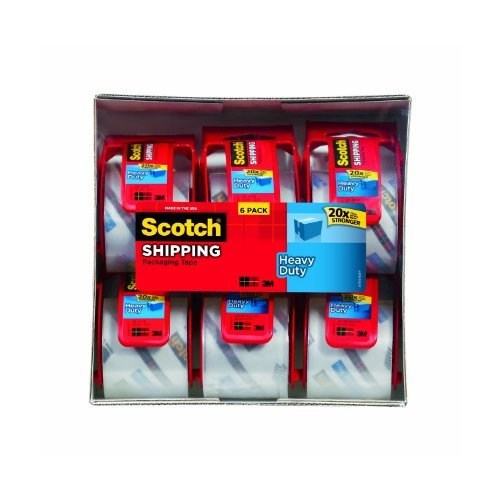 72 Rolls Scotch Heavy Duty Packaging Tape, 2 Inches x 800 Inches, by Scotch
