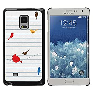 Paccase / SLIM PC / Aliminium Casa Carcasa Funda Case Cover para - Birds Cute Drawing Minimalist - Samsung Galaxy Mega 5.8 9150 9152
