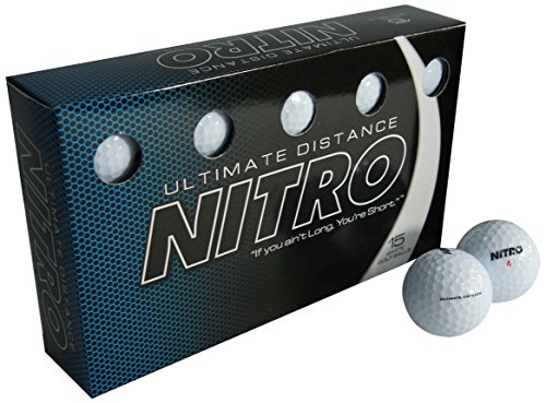 Nitro Ultimate Distance Golf Ball (15-Pack), (Ultimate Distance Ball)