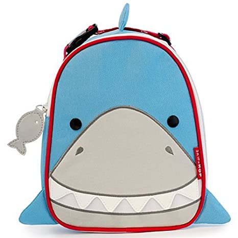 Amazon.com: Skip Hop Zoo Kids Insulated Lunch Box, Snazzy Shark, 9