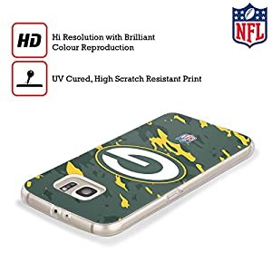 Official NFL Camou Green Bay Packers Logo Soft Gel Case for Samsung Galaxy S8 by Head Case Designs