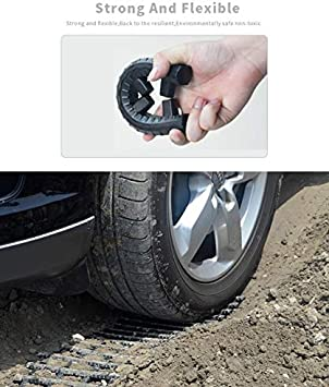 EAZYGOODS 2 x Recovery Tracks 4x4 Tyre Grip Mats Snow Mud Ice Sand Off Road Rescue Gripper