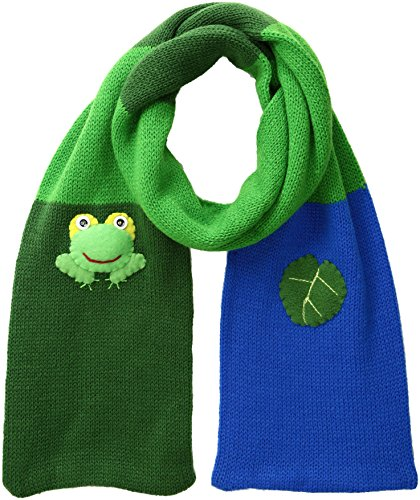 Green Kidorable (Kidorable Green Frog Soft Acrylic Knit Scarf With Fun Frog and Lily Pad 43x5.5 Inches)