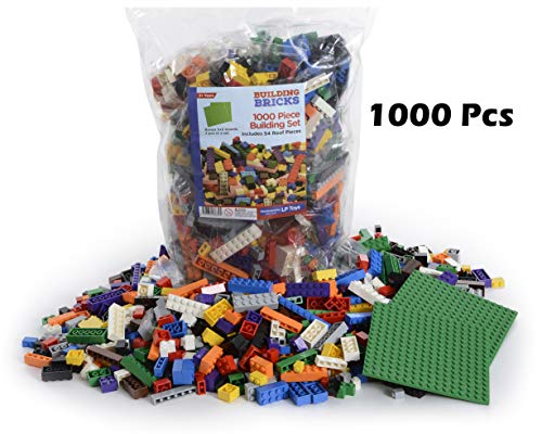 LP Toys 1000 Piece Building Blocks Toddlers - Includes 54 Roof Pieces - 2 Free 5