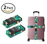 SWEET TANG Nylon Luggage Strap with Lock Travel Suitcase Belts (Monkey Love Banana)