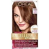 L'Oréal Paris Excellence Créme Permanent Hair Color, 6RB Light Reddish Brown, 1 kit 100% Gray Coverage Hair Dye
