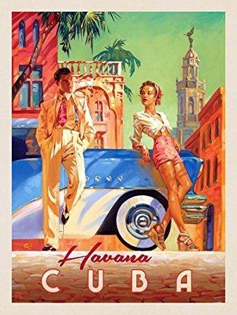 GHaynes Distributing Vintage Art HAVANA Cuba Sticker Decal (cuban old cubano) 3 x 4 inch -