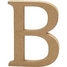 """Escultura decorativa con forma de letra""""A"""", en tablero de densidad media, marrón, madera, marrón, 9.5 x 2 x 13 cm"""
