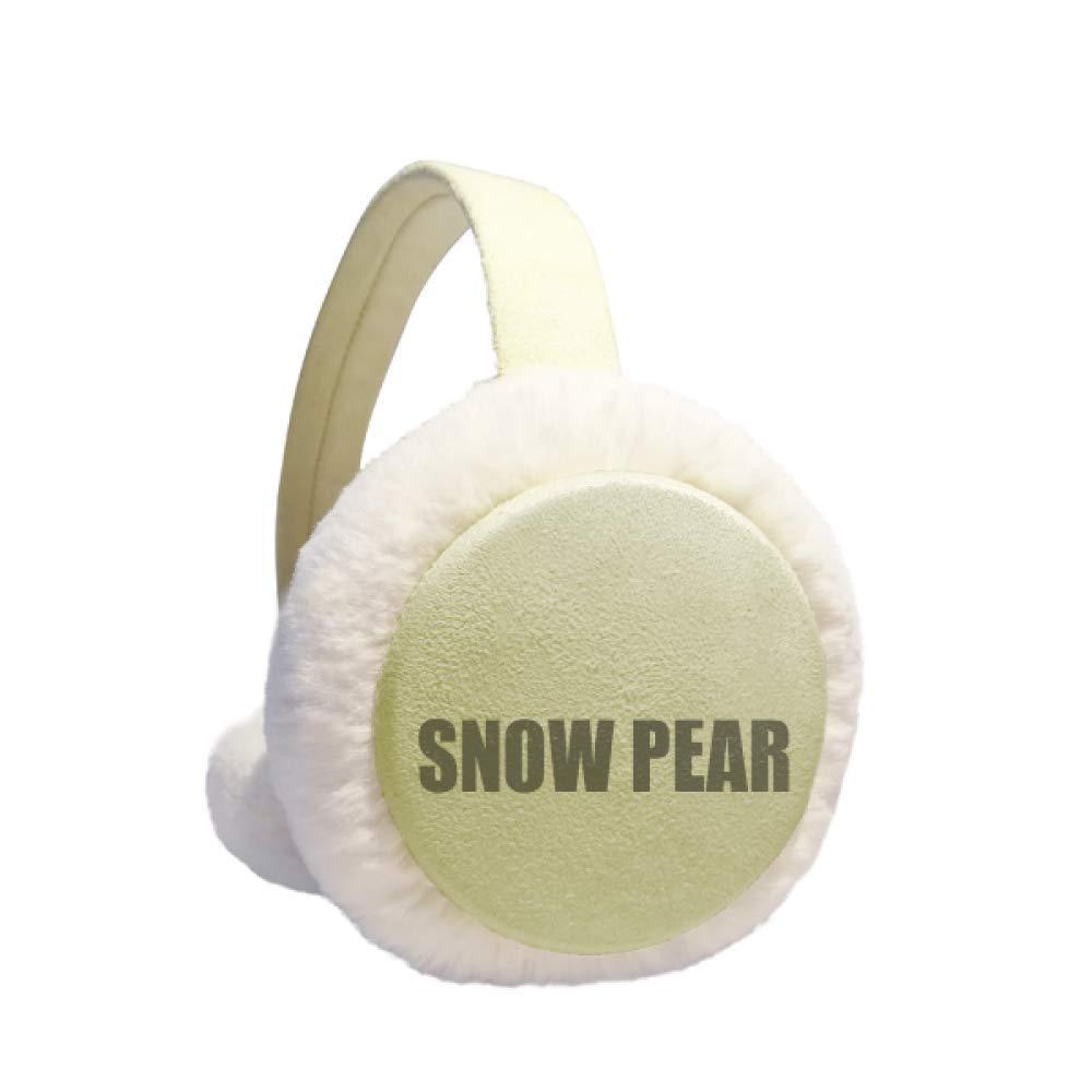 Snow Pear Fruit Name Foods Winter Warm Ear Muffs Faux Fur Ear