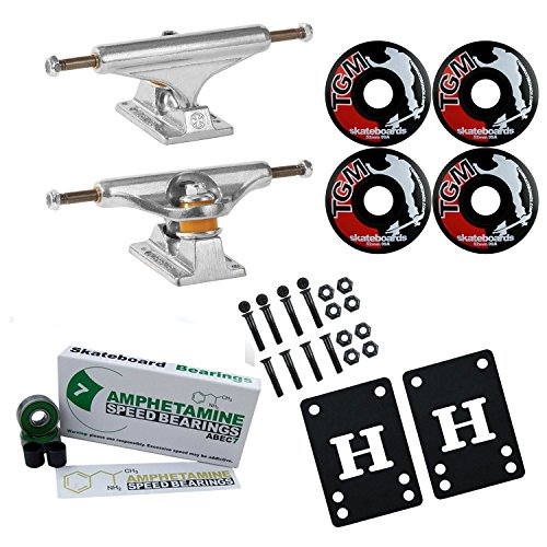- Independent 139 Skateboard Trucks, Wheels, ABEC 7 Beari