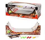 Grip&Tricks - RAMPS FINGER SKATE - HALFPIPE - Fingerboard - Cruiser Board : Dimensions: 28 X 12 X 10 cm