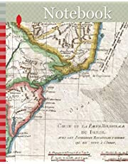 Notebook: 1780, Raynal and Bonne Map of Southern Brazil, Northern Argentina, Uruguay and Paraguay, Rigobert Bonne 1727 – 1794, one of the most important cartographers of the late 18th century