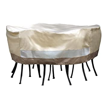 Patio Armor SF40281 Round Table And Chair Set Cover