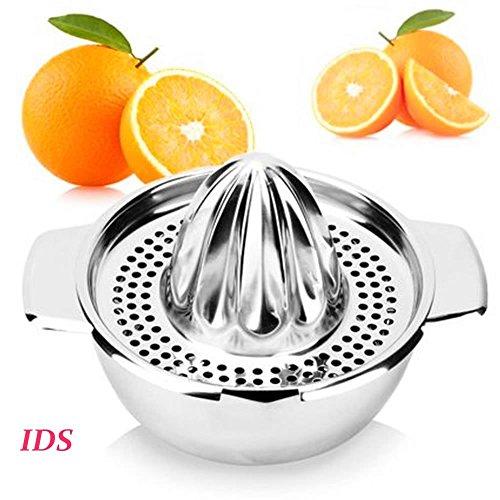 Stainless Steel Manual Juicer Fruit Lemon Lime Orange Squeezer with Bowl Juicer Strainer