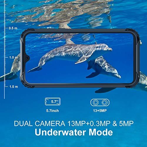 Telephone Portable Incassable, Blackview® BV5900 Smartphone Débloqué 4G (5.7Pouces, 3GO+32GO, Batterie 5580mAh, 13MP+0… 3