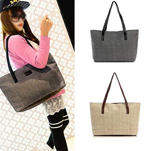 Moda Casual Ladies Mano Totes Tracolla Lino Shopping Clutch A Borsa Borse Da Donna Di Sunonip PRqAER