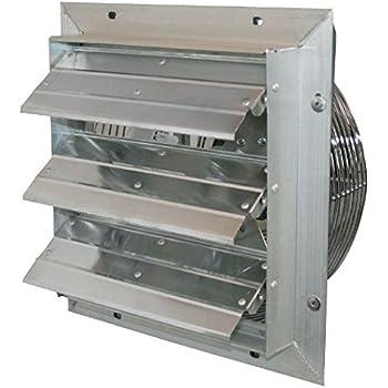 J Amp D Manufacturing Ves10c Es Aluminum Shutter Fan 10 Quot Size