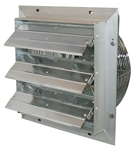 "J&D Manufacturing VES10C ES Aluminum Shutter Fan, 10"" Size, 115V, 1/8 hp, 3 Speed, 9' Cord"