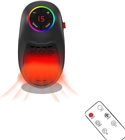 Mini Termoventilatore da Bagno 1000W Mini Heater con Termostato Regolabile Stufetta Elettrica Bagno Basso Consumo 12 Ore Timer Radiatore Elettrico per Casa Ufficio Camper