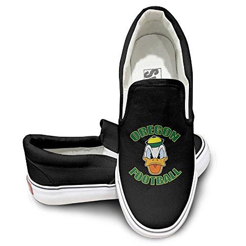 DHome Oregen Do Duck Slip-on Unisex Flat Canvas Sneaker Shoes 43 Black