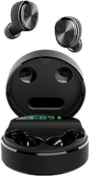 yobola Auriculares Bluetooth, Bluetooth 5.0 Auriculares 24H Reproducción 3D Stereo HD Cascos Inalámbricos, Control Táctil, Auriculares Inalámbricos con Estuche de Carga Inalámbrico: Amazon.es: Electrónica